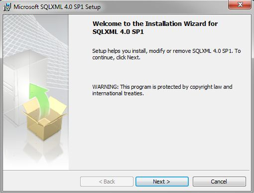 All about sqlserver: how to install sqlxml 4. 0 sp1.