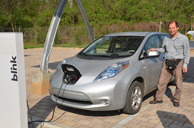 solar powered Leaf car used in South