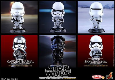 Star Wars: The Force Awakens Cosbaby Series 2 Vinyl Figure Bobble Heads by Hot Toys