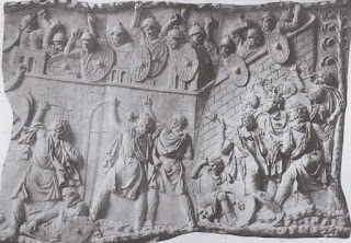 Scenes from the Dacian Wars are captured on the  extraordinary bas relief that decorates Trajan's Column