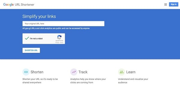 Google closes its service to shorten links goo.gl