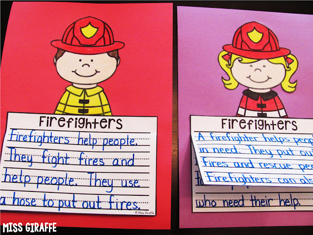 Firefighters writing activities and other great fire safety week ideas for literacy