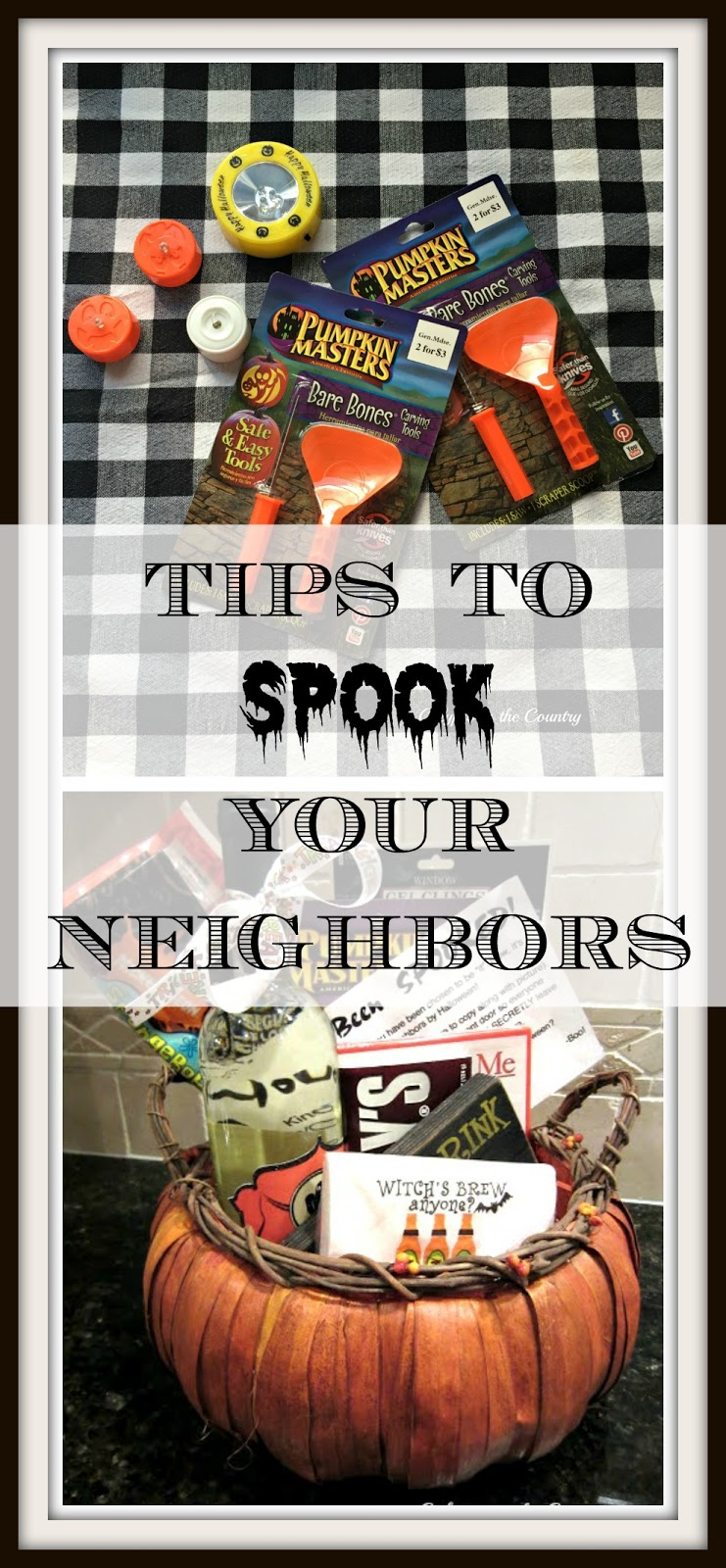 Fun Halloween Tradition - How to spook your neighbors with great ideas for goodie bags!
