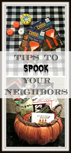 How to spook your neighbors this Halloween - great ideas for goodie bags!