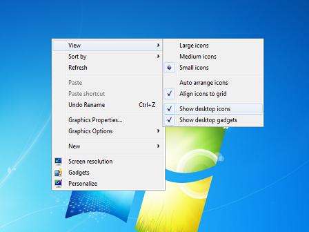 Cara Menampilkan dan Menyembunyikan Icons Desktop di Komputer atau Laptop