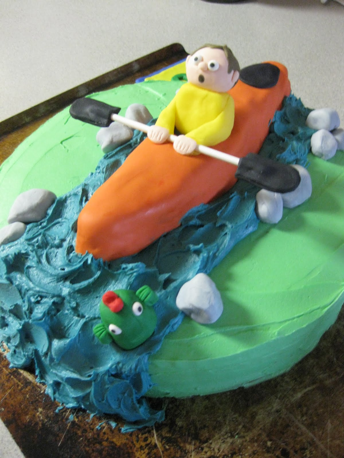 Twins Trinkets Amp Treats Kayak Cake