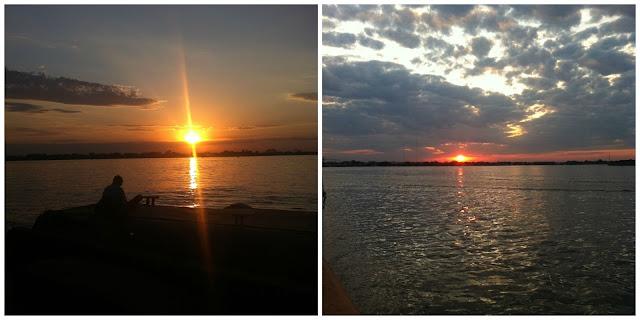pôr do sol lindo em Porto Alegre!