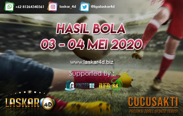 HASIL BOLA JITU TANGGAL 03 – 04 MEI 2020