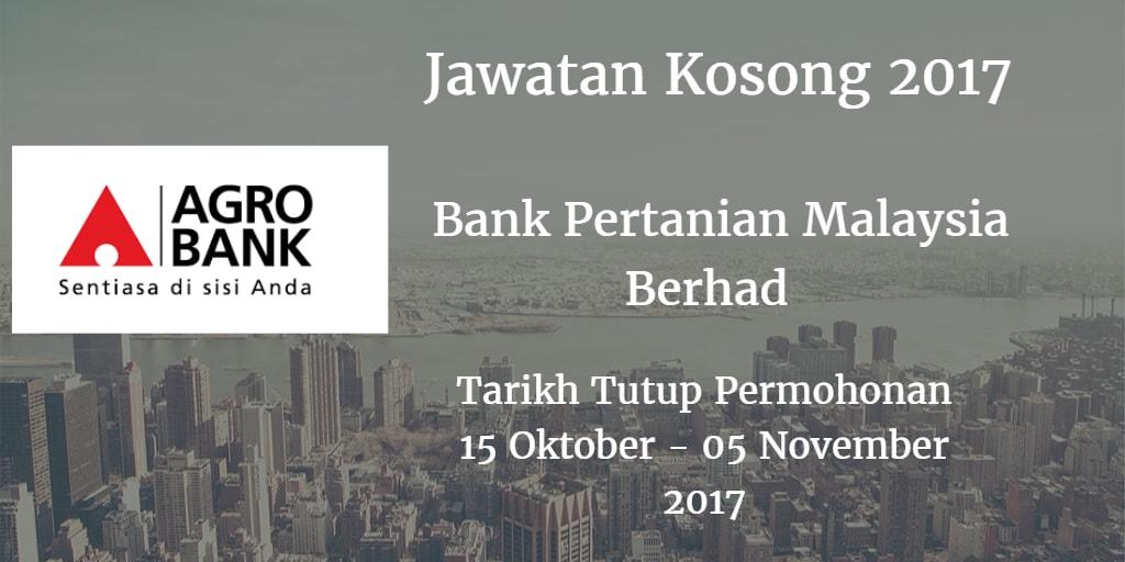 Jawatan Kosong Agrobank 15 Oktober - 05 November 2017