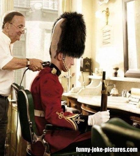 British Royal Guard Barber Haircut Silly Bunt Funny