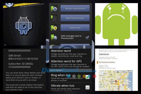 Huớng dẫn sử dụng Android lost - Phần mềm chống trộm hiệu quả nhất cho Android.