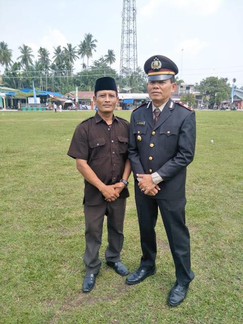 Mulyadi (kiri) ketua BUMDES Desa Sei Kamah Baru Kecamatan Sei Dadap Kabupaten Asahan.