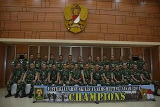 Kontingen TNI AD di AASAM 2019