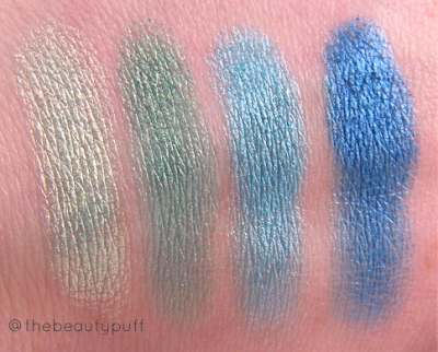 city color shimmer shadows swatches - the beauty puff