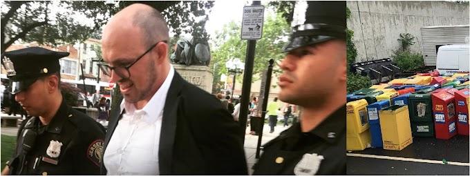 Arrestan en NJ editor del periódico Indypendent por reclamar que alcalde devuelva estanquillos confiscados
