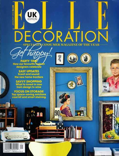 ELLE Decoration blue walls