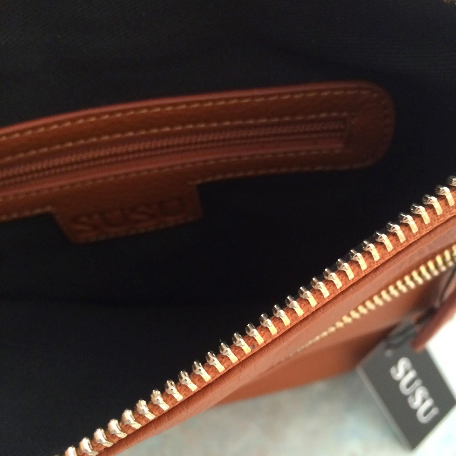 inside the SUSU Saxon Crossbody Handbag