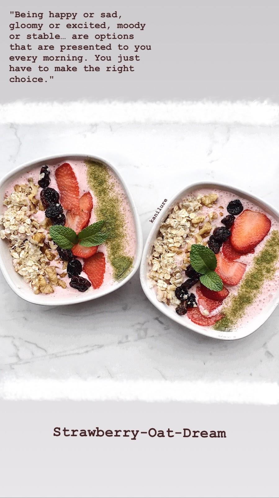 BREAKFAST RECIPE : Strawberry-Oat-Dream