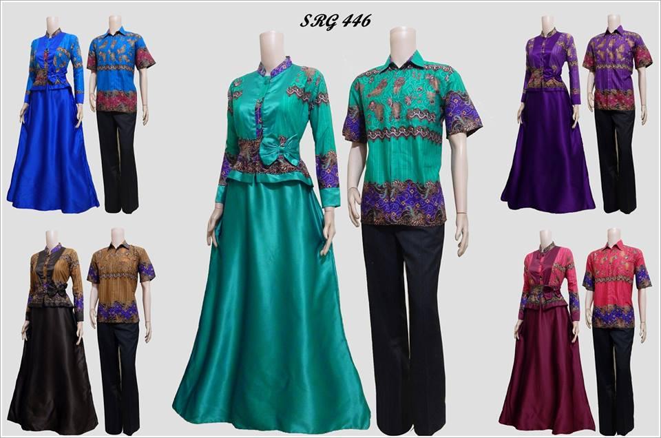 Baju Batik Couple Model Gamis Cantik Srg 446