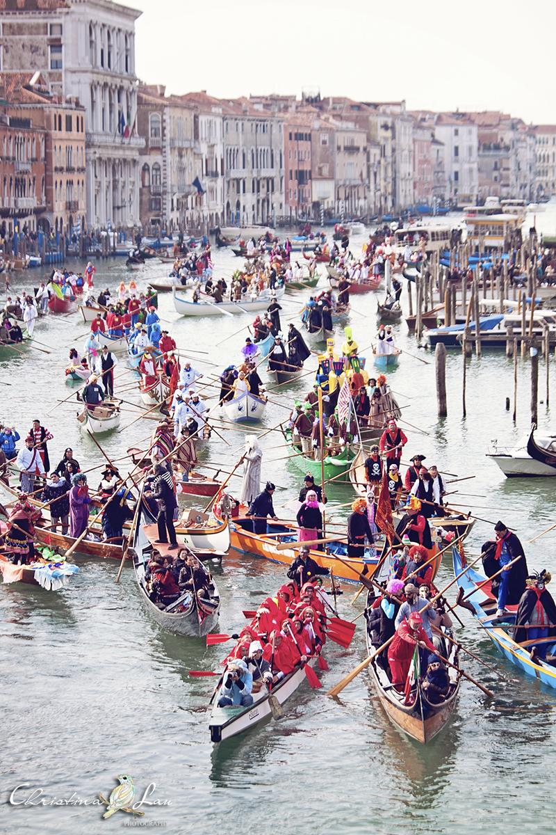 ■ 威尼斯面具嘉年華2017開幕式第二彈大運河大巡遊 [義大利17]