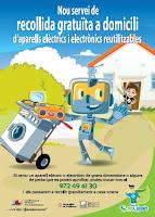 Nou servei de recollida i reutilització d'aparells elèctrics i electrònics