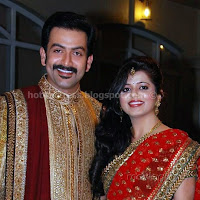 Prithviraj supriya menon wedding reception photos