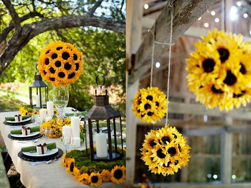 Sonal J. Shah Event Consultants, LLC: Sunflower Décor