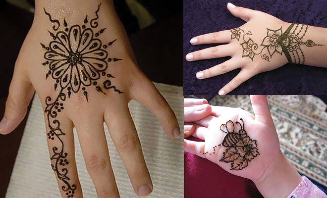 Design Of Mehndi For Children : Simple beautiful eid mehndi designs pattern for kids