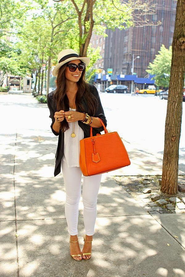 Ioanna's Notebook - How to wear white pants