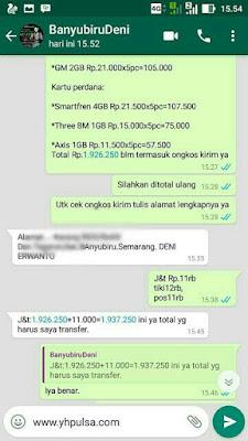 ke Banyubiru Semarang sdr Deni