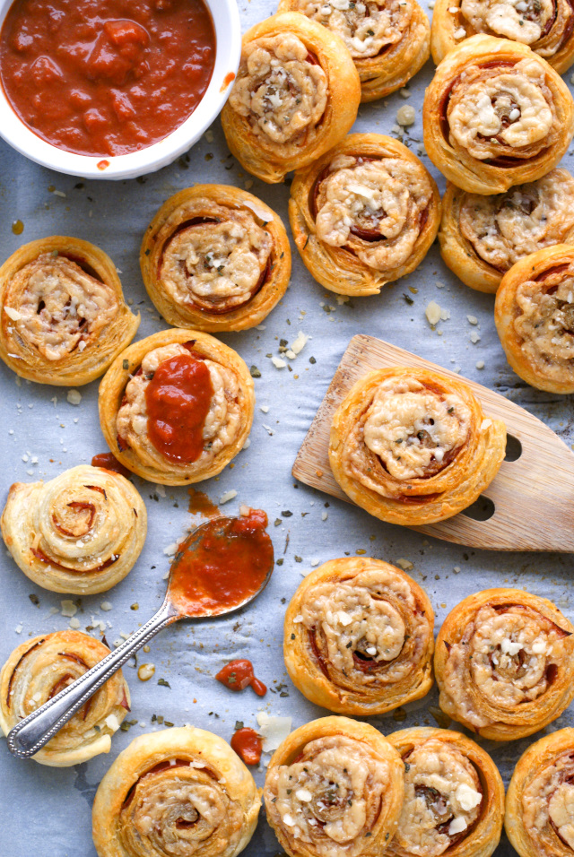 Pepperoni & Asiago Pizza Pinwheels