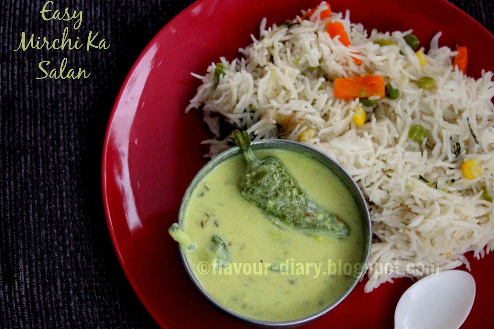 mirchi ka salan flavourdiary