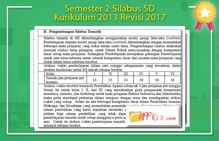 Silabus SD Kurikulum 2013 Revisi 2017
