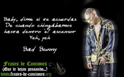 frase de amor de bad bunny