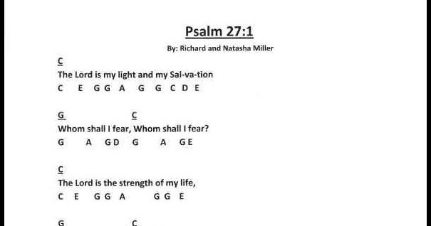 Children\'s Gems In My Treasure Box: Scripture Song - Psalms 27:1 ...