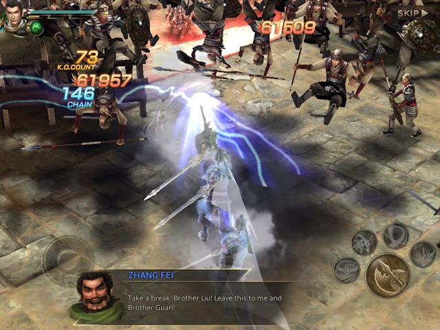 Mobile Dynasty Warriors game