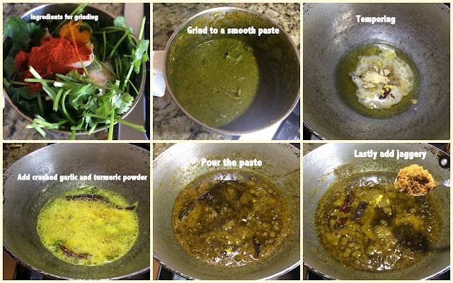 images of Coriander Leaves Pickle /Andhra Style Coriander Pickle/Kothimeera Pachadi /Kothimira Pachadi