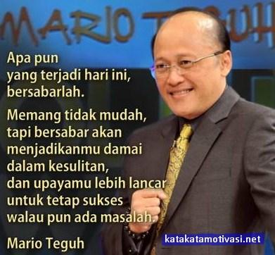 Kata Kata Motivasi Mario Teguh Tentang Kehidupan