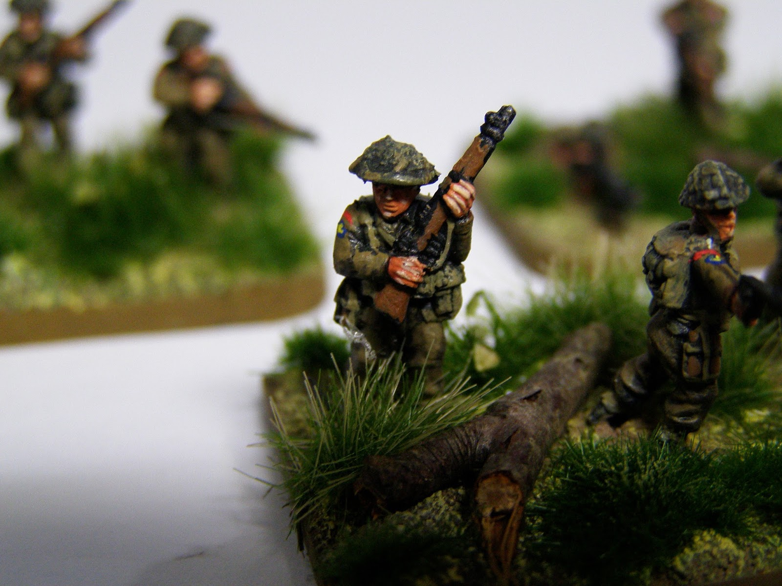 Light Bobs And Paint Blobs WW2 British Infantry 15mm DCLI