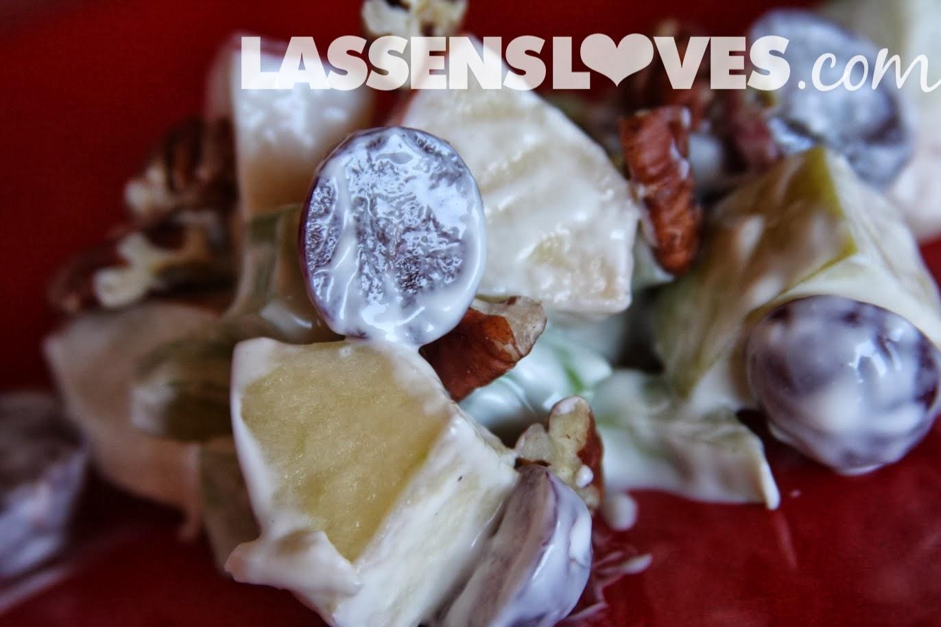 lassensloves.com, Lassen's, Lassens, waldorf+salad, grapes, apples, salad