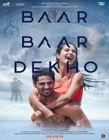 Poster Of Baar Baar Dekho 2016 Hindi 190MB  HEVC Mobile Watch Online Free Download world4ufree.org