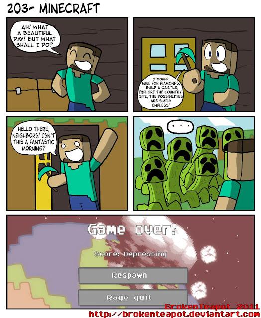 meme sobre minecraft y creepers
