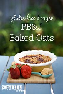 Healthy PB&J Baked Oatmeal Recipe Gluten Free Vegan