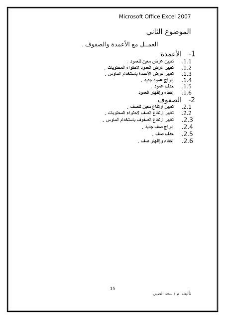أساسيات برنامج اكسل Excel elebda3.net-5858-15.