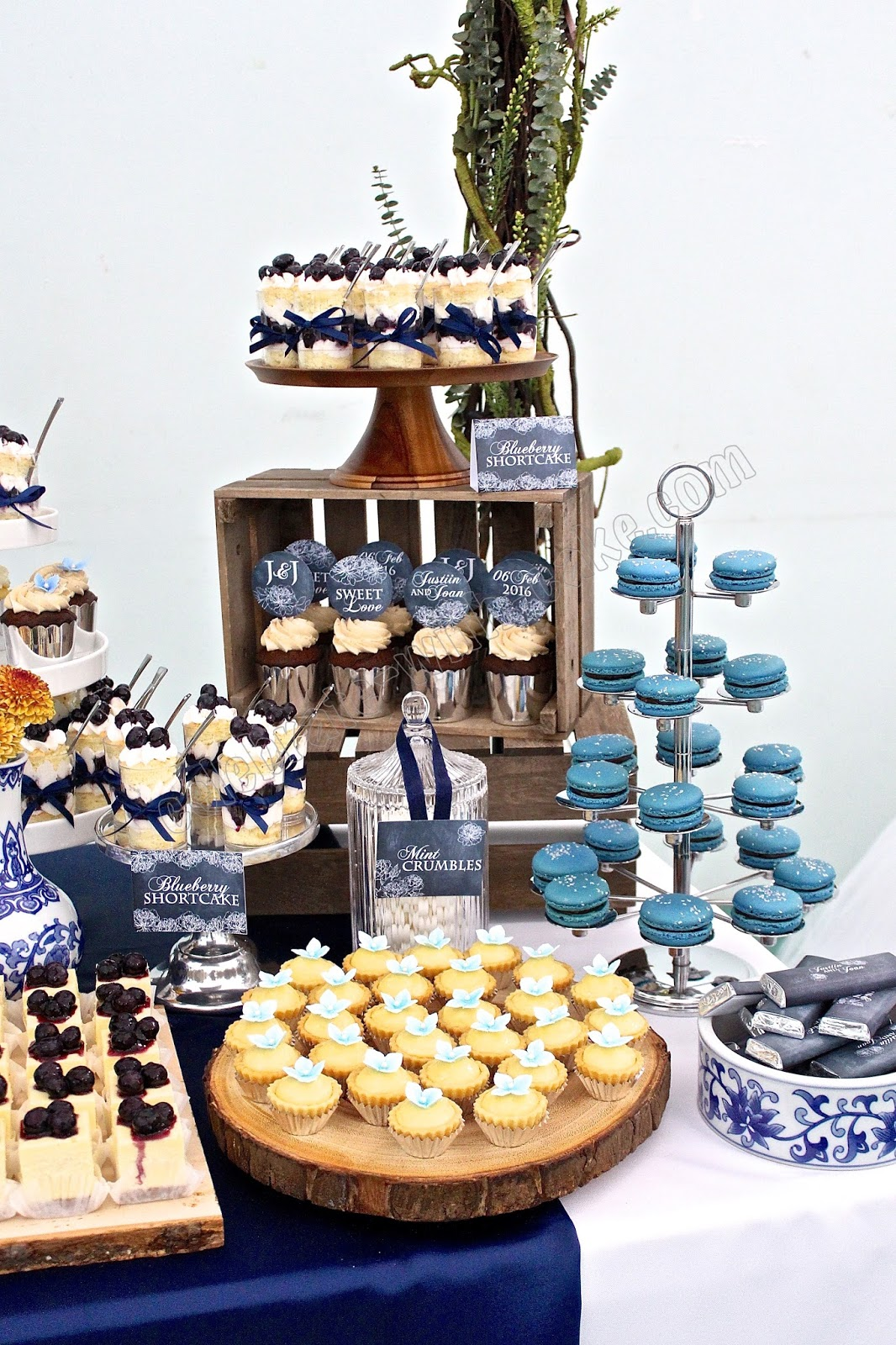 Chinese Porcelain Themed Wedding Dessert Table Click Post