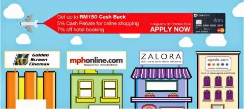 48 SMART: CIMB Cash Rebate MasterCard RM150 Online Cash Back