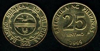 Philippines 25 Sentimos (1995+)