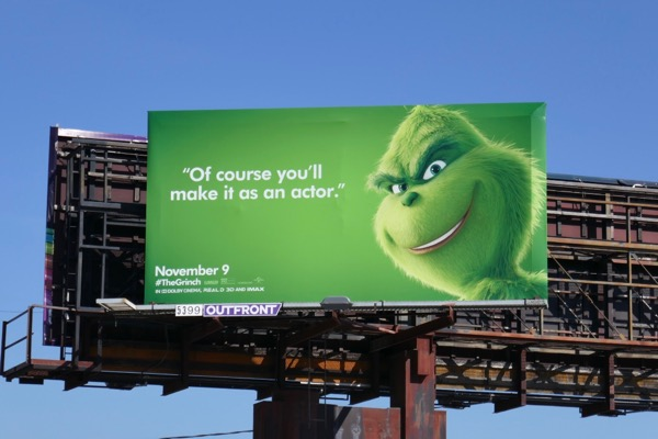 make it actor Grinch billboard