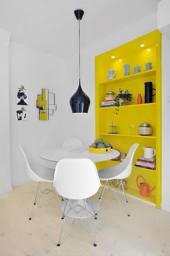 Tendencias decoración 2018 pared amarillo minion