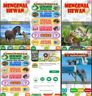 Aplikasi mengenal binatang